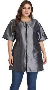 Hair Stylist Grooming Smocks for Women, Barber Apron Jacket Vest for Hair Sal...