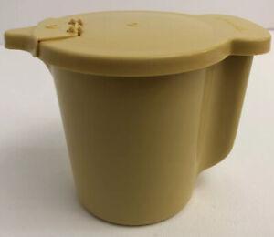 Tupperware Creamer/Container Flip-Top Lid Harvest Gold Model #574-12 Vintage