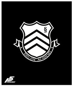 **Legit** Persona 5 Anime Shujin Academy Emblem Authentic Throw Blanket #57959