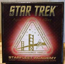 Star Trek 50th Anniversary STARFLEET ACADEMY CADET GRADUATION COIN ~ QMx