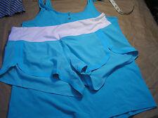 Lululemon 10 Run Racer Short Spry Blue White EUC! HTF!
