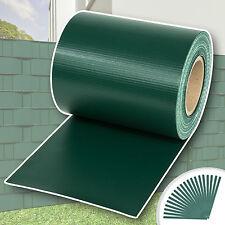 Rollo aislamiento aislante PVC 70m x 19cm jardín para vallas banda verde NUEVO