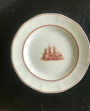 "Wedgewood FLYING CLOUD Salad Plates Red Jacket 8 1/4"" Georgetown Collection"