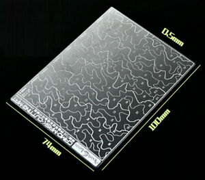 Mini Camo Stencil (Masking, 2-sided) for 1/72, 1/100 Scale Models (90x50mm)
