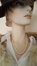 trés joli collier perles de culture vintage fermoir or jaune 18k