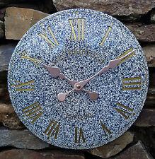 Outdoor Indoor Granite Garden Wall Clock Hand Painted Church Clock 30cm DS5110