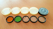 Meopta 30mm Filters for Flexaret Camera with Genuine Cases, Set of 5 filters