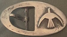 Southwestern Signed Buckle Bird Applique´ Hand Constructed Sterling Silver .925