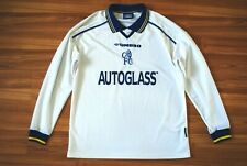 CHELSEA LONDON 1998/99/2000 AWAY FOOTBALL SHIRT JERSEY UMBRO LONG SLEEVE M-L