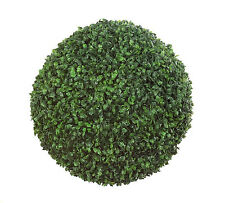 "20"" Artificial Boxwood Ball Greenery Topiary Tree Rustic Home Decoration"