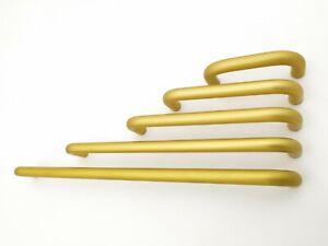 Möbelgriffe, Bogengriffe AL26 Goldfärbig matt. Bohrlochabstand 64 - 256 mm