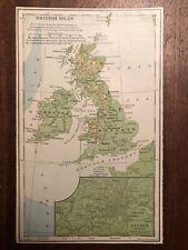 """Vintage Color United Kingdom Uk England Print Plate 5.5"""" x 8.5"""" Unframed"""