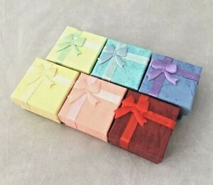 Ring Gift Boxes with bow 6 different colour to choose Free P&P ***1 box only***