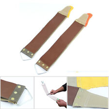 Leather Canvas Straight Razor Cloth Sharpening Strop Barber Care Tool Useful
