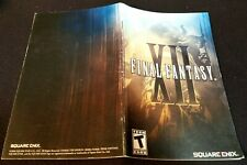 Final Fantasy XII 12 PS2 Instruction Manual ONLY No Game
