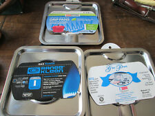 Lot of 3 - Square Gas Range Pan Cooking appliances part Range Kleen Sgp-400