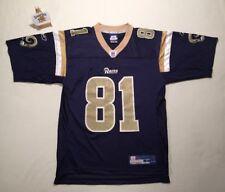 MEN'S Reebok NFL Premier Torry Holt St Louis Rams bleu jersey NFL Petit #81