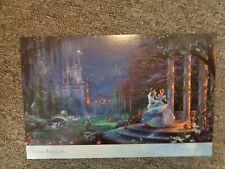 Thomas Kinkade Studio Postcard Disney Cinderella Dancing In the Starlight