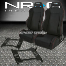 NRG 2 TYPE-R RED STITCHES  RACING SEATS+BRACKET FOR 03-08 NISSAN 350Z Z33 VQ35 Z