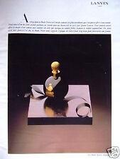 PUBLICITÉ 1978 LANVIN ARPÉGE DANS LA BOULE NOIRE - ADVERTISING