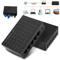 RJ45 LAN 10/100Mbps 5 Port Ethernet Network Switch For Desktop PC Router US Plug