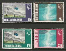 Tristan da Cunha 1968 Tristan as Dependency of St Helena set SG 117-120 Mnh.