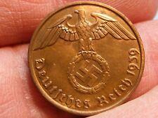 WW2 GERMAN 2 RP REICHSPFENNIG  NAZI 3RD REICH COINS
