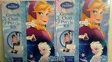 Lot of 2 Disney Frozen Growth Chart Puzzle Kit Elsa Anna by Mega Puzzles 50 Pc