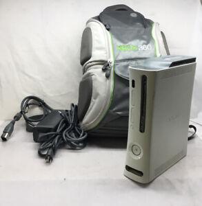 Microsoft Xbox 360 Pro System Bundle 60GB White Console Tested