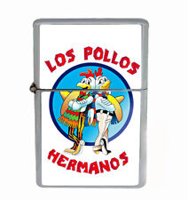Los Pollos Rs1 Flip Top Dual Torch Lighter Wind Resistant