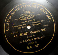 LANDON RONALD piano Joachim Raff La fileuse 1901 gramophone G.C.-5551 G&T 78 rpm