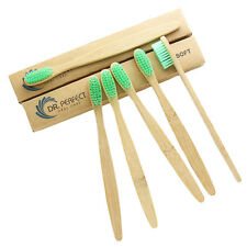 12PCS/lot Dr.Perfect Bamboo Toothbrush Oral Care Soft Green Nylon Bristles