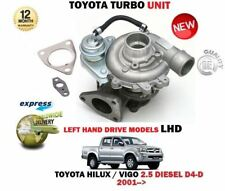 FOR TOYOTA HILUX VIGO 2.5 D4D PICKUP LHD 2001-> NEW LEFT DRIVE TURBO CHARGER KIT