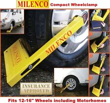 Milenco Compact Wheel Clamp with FREE storage bag fits Caravans & Motorhomes