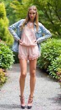 Zara rosa bestickt Playsuit Jumpsuit Größe Medium
