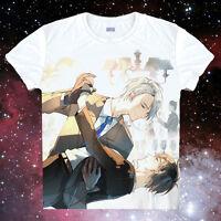 Anime YURI!!! on ICE Victor Nikiforov Cosplay Short Sleeve T-Shirt Tops #03