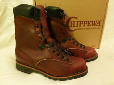 "Chippewa Mens Waterproof Work Boots 9"" 29800 Black Cherry Riptide Size 8E $325"