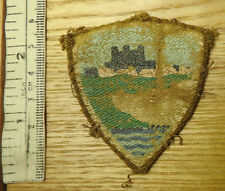 Original Military WW2 East Kent District Shield Cloth Formation Badge (4386)