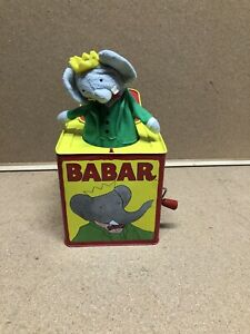 Schylling BABAR the Elephant Musical Jack In The Box Toy - Free Shipping
