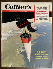 Collier's Mags 3 Chesley Bonestell Issues. 1952-54. Science Fiction Illustration