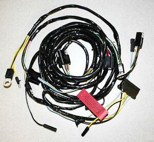 NEW! 1965 Ford Mustang Headlight Wire Harness With Standard gauges lights, no GT