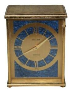 Vintage LUXOR Swiss Mini Mantle Gold Alarm Clock for Shreve Crump & Low Co