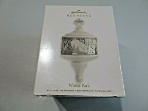 Hallmark Keepsake Ornament Winter Park Christmas 2012 Porcelain & Metal NEW