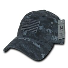Camo USA US American Flag United States America Military Polo Baseball Hat Cap