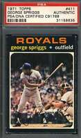 George Spriggs PSA DNA Coa Autograph 1971 Topps Hand Signed