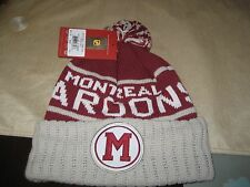 MENS MONTREAL MAROONS Mitchell & Ness Winter BEANIE HAT MAROON  NWT
