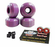 Blank Pro 52mm 99a Purple Skateboard Wheels + Owlsome ABEC 7 Bearings