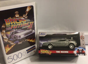 2 Items-1 BLOCKBUSTER BACK TO THE FUTURE PART II 500 Pc Puzzle  & 1 Car CARDINAL