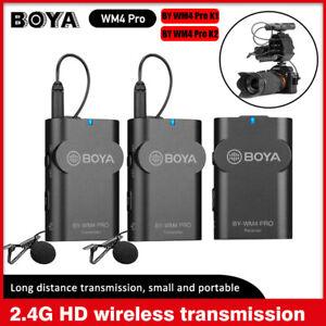 BOYA BY-WM4 Pro K1 K2 wireless Lavalier Microphone System BY-MP4 Audio adapter