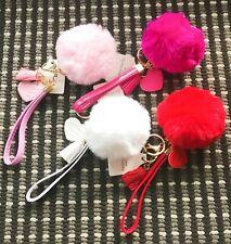 Fashion Rabbit Fluffy Fur Heart Chain Tassel Drop Dangle Keyrings Keychain